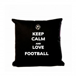 Coussin keep calm and love football