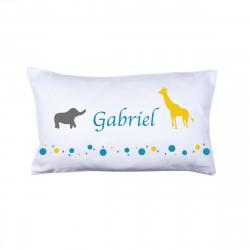 Coussin animaux Gabriel personnalisable