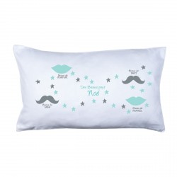 Coussin bisous family menthe
