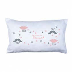 Coussin bisous family rose