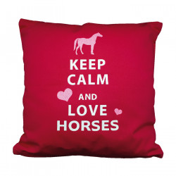 Coussin keep calm and love horses