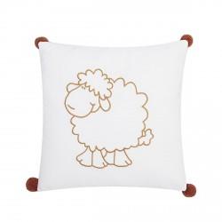 Coussin brodé mouton