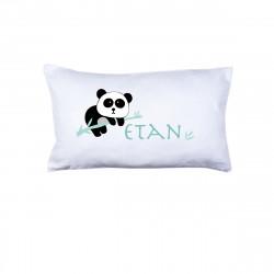 Coussin panda Etan menthe personnalisable