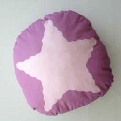 Coussin étoile rose violet
