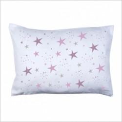 Coussin étoiles magiques mauve