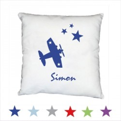 Coussin avion star personnalisable