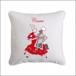 Coussin chevalier rouge