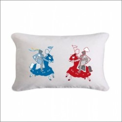Coussin duel chevaliers