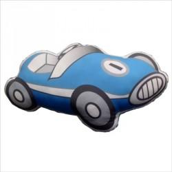 Coussin en forme de voiture bleue
