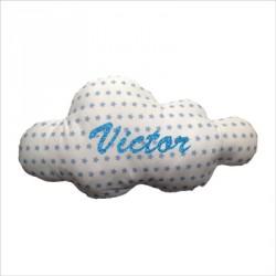 Coussin nuage étoiles bleues personnalisable