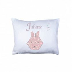 Coussin origami lapin