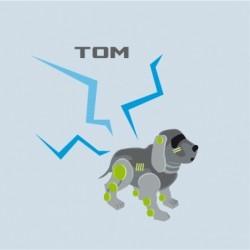 Coussin robot chien