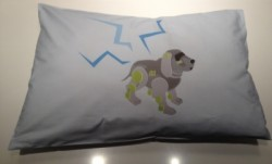 Coussin robot chien rectangle