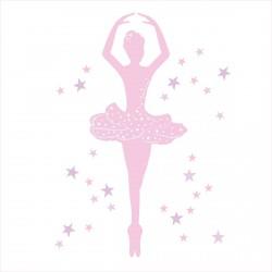 Stickers Danseuse rose