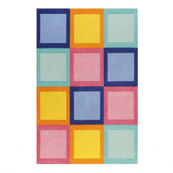 Tapis enfant Domino Day multicolore