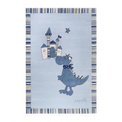 Tapis bébé Dragon & Castle bleu