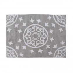 Tapis enfant coton motifs géométriques Duna gris