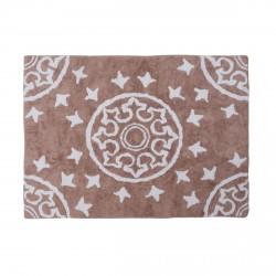 Tapis enfant coton motifs géométriques Duna taupe