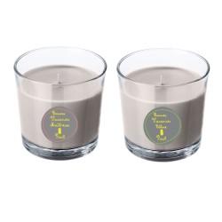 Duo de bougies parfumées grises maîtresse ananas personnalisable