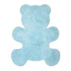 Tapis en coton Little Teddy bleu ciel