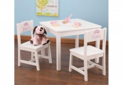 Ensemble table et chaises enfant blanche personnalisables
