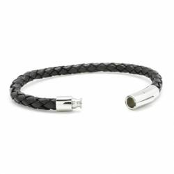Bracelet L'Epicurien noir - Acier