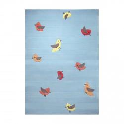 Tapis oiseaux Birdie bleu