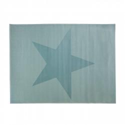 Tapis étoile bleu turquoise