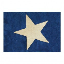 Tapis enfant coton étoile Estela bleu marine