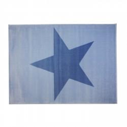 Tapis bleu étoile bleu foncé