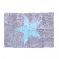 Tapis Estella gris étoile bleue