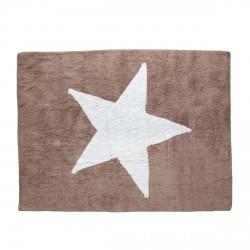 Tapis enfant coton étoile Estela taupe