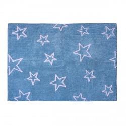 Tapis enfant coton étoiles Esterella bleu