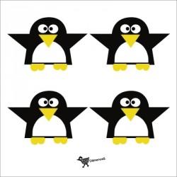 Etiquettes cadeau pingouin
