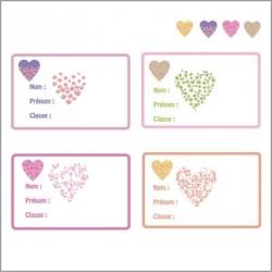 Etiquettes Coeurs