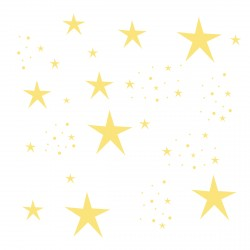 Stickers Etoiles Magiques jaunes