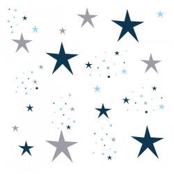Lampe à poser étoiles magiques bleu nuit et gris