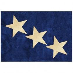 Tapis enfant coton étoiles Europe bleu marine