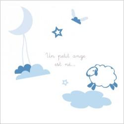 Faire part de naissance doux rêve bleu