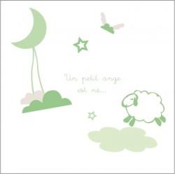 Faire part de naissance doux rêve vert