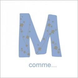 Faire part de naissance M comme Mathieu
