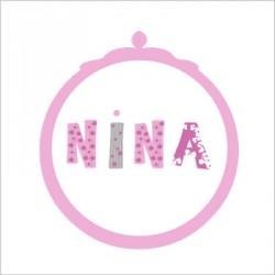 Faire part de naissance Nina patchwork