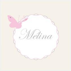 Faire part de naissance papillons Mélina beige