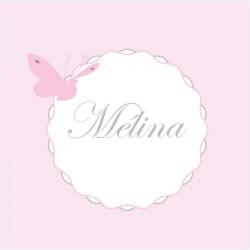 Faire part de naissance papillons Mélina rose