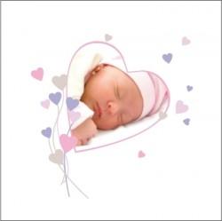 Faire part de naissance photo Amandine