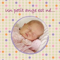 Faire part de naissance photo Elise