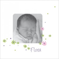 Faire part de naissance photo Flora