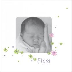Faire part de naissance photo Flora
