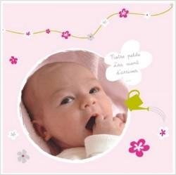 Faire part de naissance photo Jeux de fille Mathilda