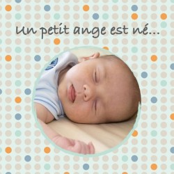 Faire part de naissance photo Justin